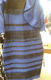 Colour human perception. Dress that became viral