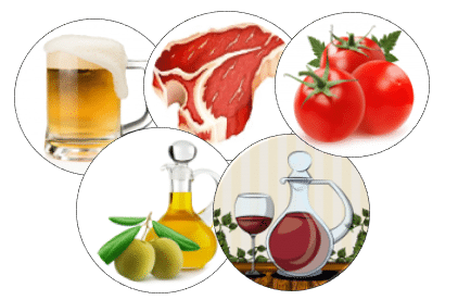 Products from the agri-food and agricultural industry that have already been studied with spectroscopy.